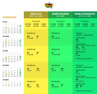 DSC 2019 Full Schedule
