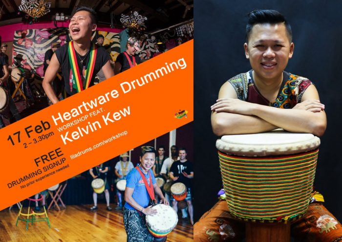 Heartware Drumming Workshop with Kelvin Kew